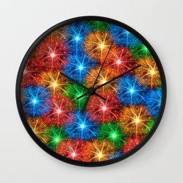Fireworks pattern Wall Clock
