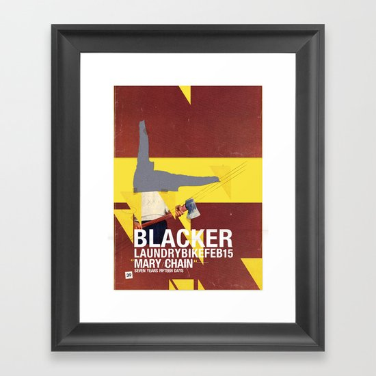 Mary Chain & Blacker band poster Framed Art Print