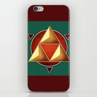 triforce iPhone & iPod Skins featuring Triforce by lythy
