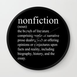 Nonfiction Definition Wall Clock