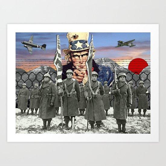 Ikuzo! - 442 Nisei Art Print