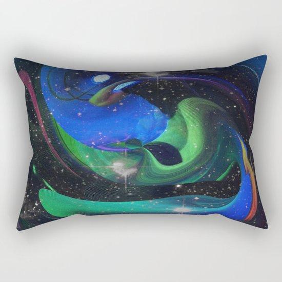 A Space Ray Rectangular Pillow