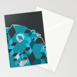 Ampersand Lost in Cubes Stationery Cards