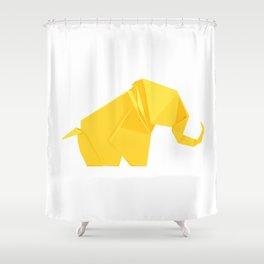 Origami Elephant Shower Curtain