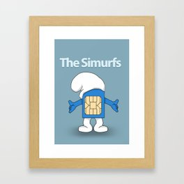 The Simurfs Framed Art Print