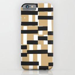 Crossbar pattern iPhone Case