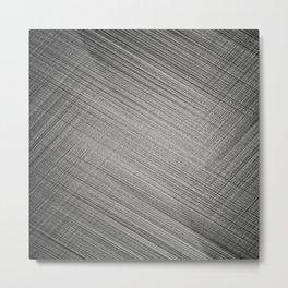 Charcoal Stitch Metal Print