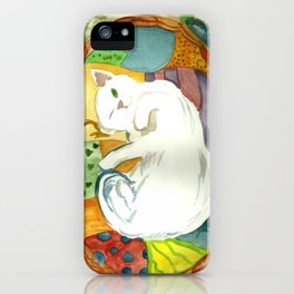 Cat in the Basket iPhone Case