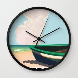 saltburn Yorkshire vintage travel poster Wall Clock