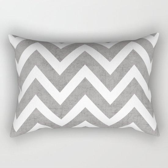 gray chevron Rectangular Pillow