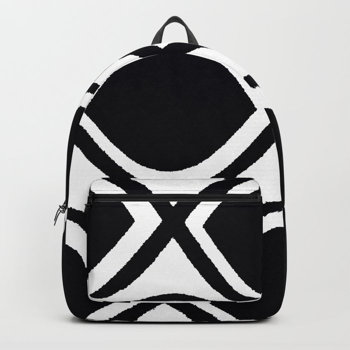 BLACK AND WHITE RANDOM GRAPHIC Backpack