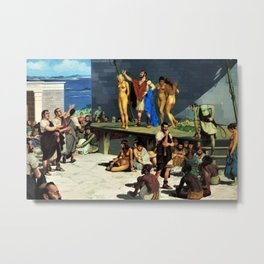 "Classical Masterpiece ""At the Roman Slave Market"" by Herbert Herget Metal Print"