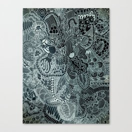 The Underbrush Black and White Canvas Print