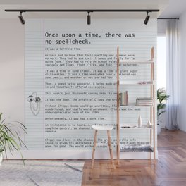 Unique Gifts For Writers: An Homage to Clippy Wall Mural