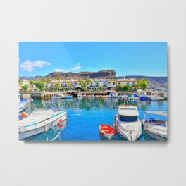 Puerto de Mogan port Metal Print