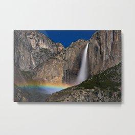 Yosemite Falls Moonbow Metal Print