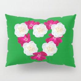 Rose Heart Kelly Green Pillow Sham