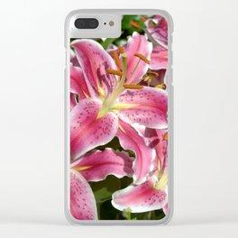 TT's Lilies Clear iPhone Case
