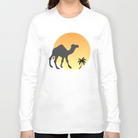 camel Long Sleeve T-shirts featuring Camel by Geni