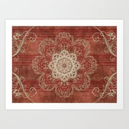 Arabesque Red Art Print