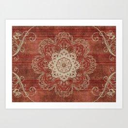 Arabesque Red Art Print