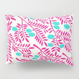 Olive Branches – Pink Ombré & Turquoise Pillow Sham