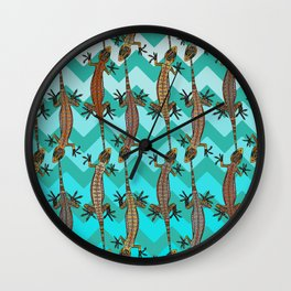 gecko chevron Wall Clock