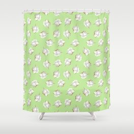 Cotton Blossom Toss in Key Lime Shower Curtain