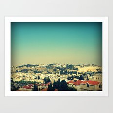 Jerusalem Panorama Art Print