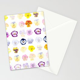 colorful pansies watercolor painting Stationery Cards