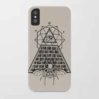 pyramid iPhone & iPod Cases featuring Pyramid by alesaenzart