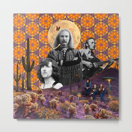 Desert Delights- Crosby Stills & Nash Collage Metal Print