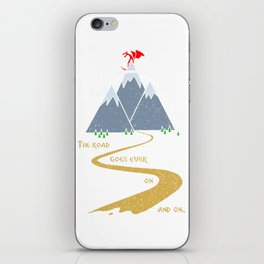 The road goes ever on & on iPhone Skin
