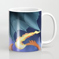 charizard Mugs featuring Charizard Y by Natsuakai