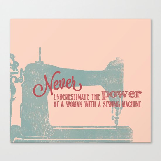 sewing canvas with a sewing machine