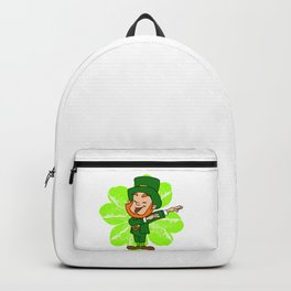 Dabbing Leprechaun St Patricks Day Gold Pot Backpack