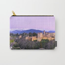 La Alhambra, Sierra Nevada and Granada. At pink sunset Carry-All Pouch