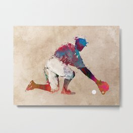 Baseball player 5 #baseball #sport Metal Print
