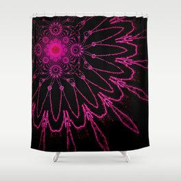 The Modern Flower Electric Fucshia Shower Curtain
