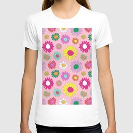 60's Daisy Crazy in Mod Pink T-shirt