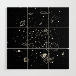 Spaced Out Wood Wall Art