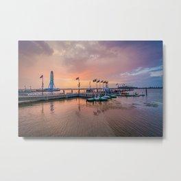 Sunset over The Potomac Metal Print