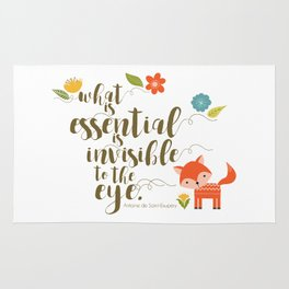 What is essential is invisible to the eye. The Fox. Rug