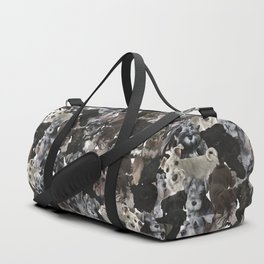 Schnauzer Collage Realistic Duffle Bag