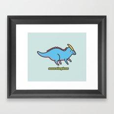 Saurolophus Framed Art Print