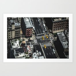 Little Yellow Cabs Art Print