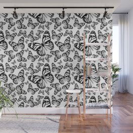 Monarch Butterflies | Monarch Butterfly | Vintage Butterflies | Butterfly Patterns | Black and White Wall Mural