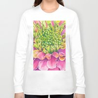 dahlia Long Sleeve T-shirts featuring Dahlia by Susie Bell