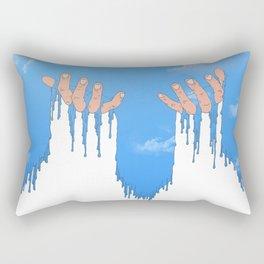 Le ciel coule sur mes mains Rectangular Pillow