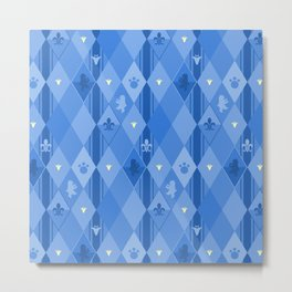 Blue Lily Bear Metal Print